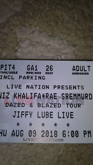 Wiz khalifa tickets PIT for Sale in Fairfax, VA