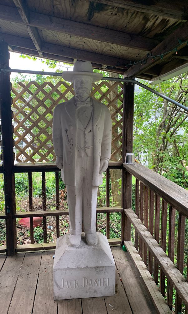 Life size Jack Daniel statue (Faux Stone) collectible