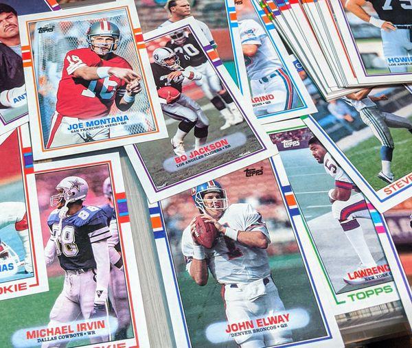 Baseball, football, basketball cards