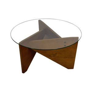 West Elm Sail Coffee Table - Glass and Wood for Sale in Lake Oswego, OR