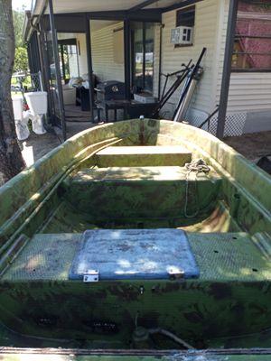 12 ft fiberglass boat with trailer for Sale in Cocoa, FL