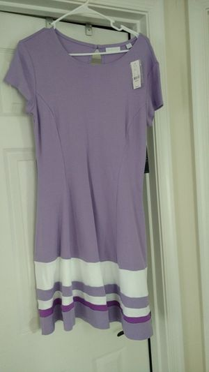 NWT New York & Company Dress, Size: Medium; Colors: Lavender and White for Sale in Manassas, VA