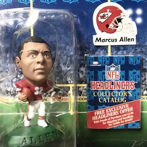 Marcus Allen NFL Headliners Corinthian Figure + Collectors Catalog NEW in Box 🏈 for Sale in Redmond, WA