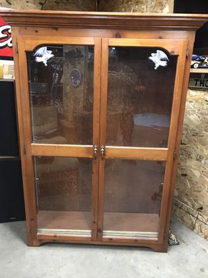Wood shelf cabinet for Sale in Coon Rapids, MN