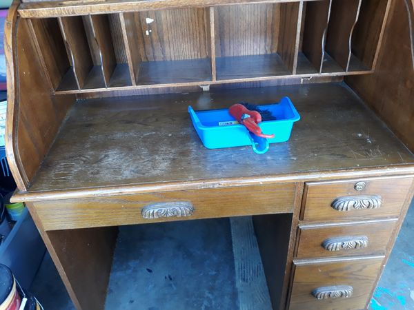 Vintage Roll Top secretary desk