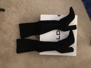 ALDO shoes black, Thigh-High, suede, fall boots for Sale in North Smithfield, RI
