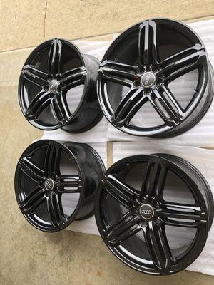 """19"""" Audi OEM S-Line Wheels Gloss Black (4) Set for Sale in Swansea, IL"""