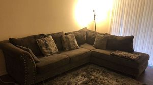 GREY sectional. Couch for Sale in Atlanta, GA