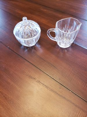 Crystal cream and sugar set for Sale in Waynesville, MO