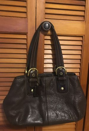 Coach Soho Chocolate Brown Pebbled Leather Large Satchel for Sale in Spartanburg, SC