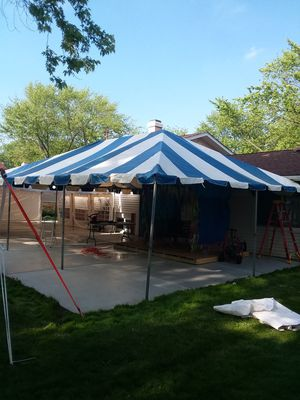 Blue and white frame tent for Sale in Rolling Meadows, IL