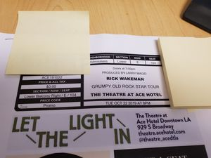 Rick Wakeman Lower Belcony Right row E Oct 22 for Sale in West Los Angeles, CA