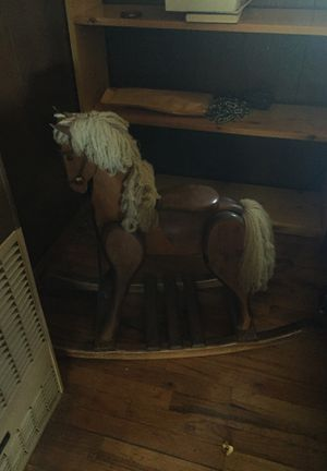 Free toddler wooden rocking horse for Sale in Hotchkiss, CO