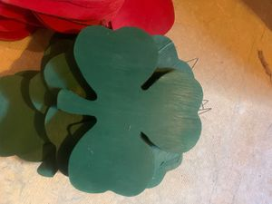 Shamrock and heart wooden cutouts about 20 of each shape for Sale in Berlin, NJ