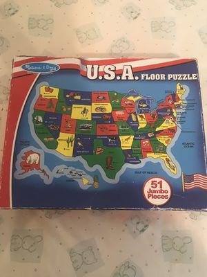 U.S.A. Floor Puzzle for Sale in Manassas, VA