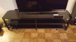 Innovex Oxford Glass Black TV Stand for TVs up to 83 for Sale in Arlington, VA