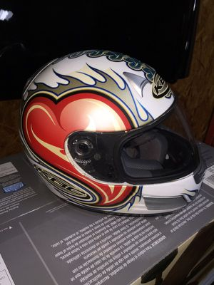 KBC heart motorcycle helmet for Sale in Bonaire, GA