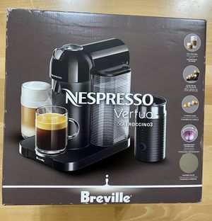 Nespresso Vertuo Coffee Maker and Espresso Machine with Aeroccino Milk Frother by Breville for Sale in Kenmore, WA
