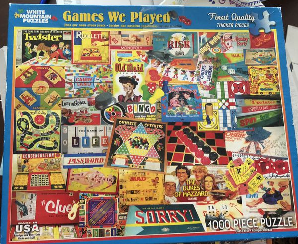 """White Mountain 1000 pc puzzle """"Games We Played"""""""