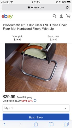 "Office Chair Mat with Lip 48"" x 36"" PVC for Sale in Murfreesboro, TN"
