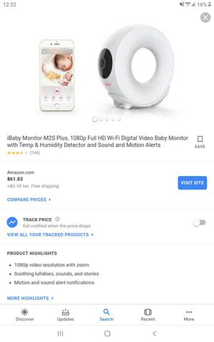 Ibaby video monitor, connects to wifi or hotspot, used maybe 3 times , $40 obo for Sale in Hallsville, TX