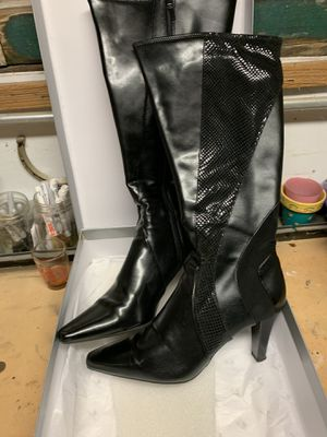 Worthington Womens Tall Boots Sz 10M Black High Heel Casual Work Occasion New for Sale in Des Plaines, IL