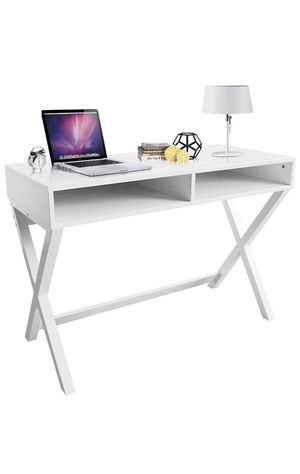 Modern White desk and leather chair for Sale in Goodyear, AZ