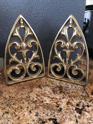 Filagree brass vintage bookends pair for Sale in Greenwood Village, CO
