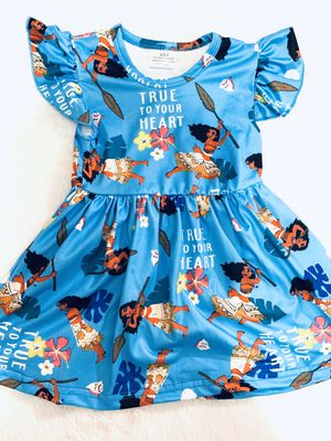 6mo blue Moana dress (last one) for Sale in Chula Vista, CA