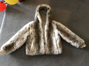 Faux fur short reversible jacket - Womens M for Sale in Bourne, MA