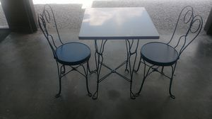 Marble top ice cream table with two chairs for Sale in Pimento, IN