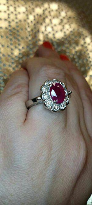 Platinum oval diamond engagement ring for Sale in Atlanta, GA