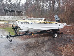 1958 glass par lido sport boat with a 85 Force outboard motor for Sale in Glen Burnie, MD