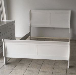 White Sleigh Bed Frame - Brand New for Sale in Wilmington, NC