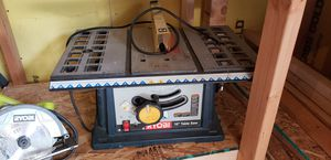 """10 in table saw. No fence but comes with 50"""" edge guide for Sale in Joint Base Lewis-McChord, WA"""