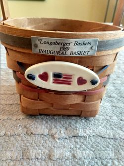 Longaberger 1989 Inaugural basket for Sale in Menifee,  CA