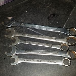 SK combination wrenches, SK Wayne and SK SAE and Metric combination wrenches 5 in total for Sale in Royse City, TX