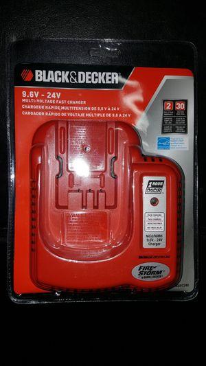 Black + Decker Battery Charger (9.6V-24V) for Sale in Silver Spring, MD