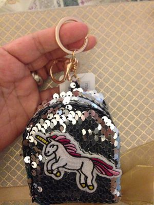 Unicorn 🦄 small pouch keychain purse charm for Sale in Moreno Valley, CA