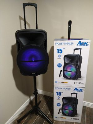 SPEAKER BLUETOOTH WIRELESS RECHARGEABLE 🔋 PORTABLE LOUD SOUND 15 INCH $140. NEW IN BOX for Sale in Rialto, CA