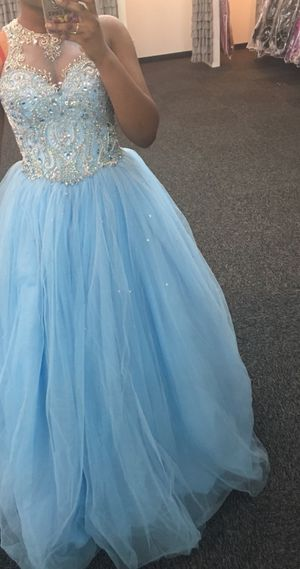 Baby blue Cinderella prom dress for Sale for sale  Carrollton, GA