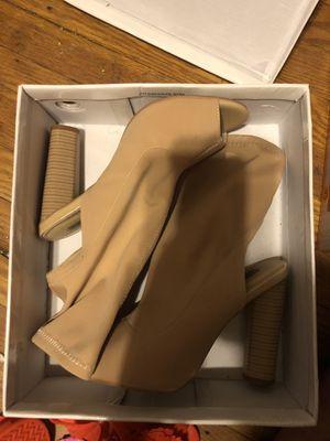 Nude Open Toe Sock Heels for Sale in Philadelphia, PA