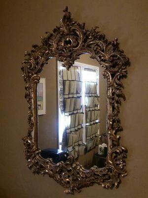 Antique Baroque Regency Giltwood Ornately Carved Framed Mirror for Sale in Los Angeles, CA