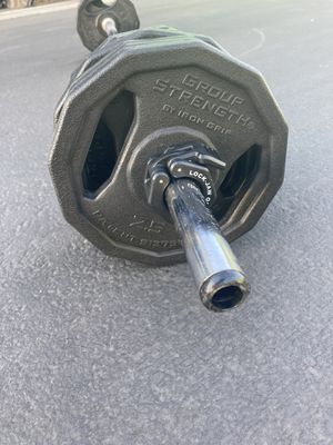 Body Pump Bar & Weights - 25 pounds total for Sale in San Leandro, CA