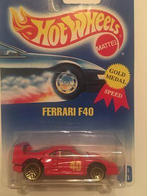 Hot wheels Ferrari f40 gold spokes for Sale in Garden Grove, CA