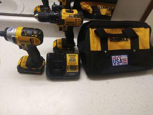 Dewalt drill driver.impact driver combo kit2 for Sale in Fairfax, VA