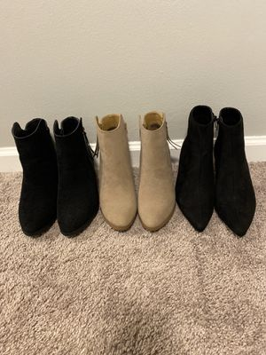Booties Sz 9 (three pair) for Sale in Wyoming, OH
