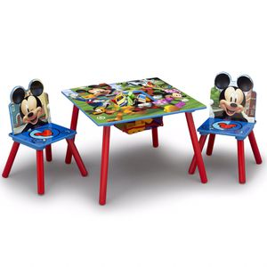 Mickey Mouse Kids Table and Chair Set with Storage for Children, Education, School, Tutor, Study for Sale in Henderson, NV