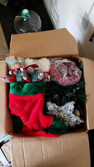 Box of Christmas decoration (more than 100 items) for Sale in Kensington, MD