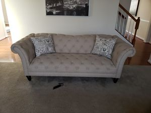 4 piece linen truffled living room set for Sale in Fort Washington, MD